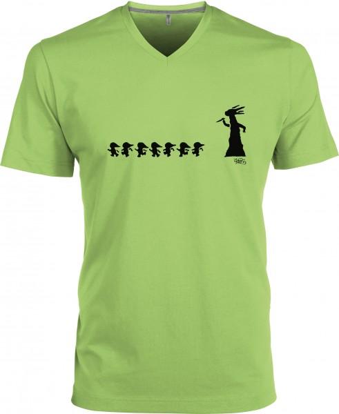 Herren T-Shirt V-neck