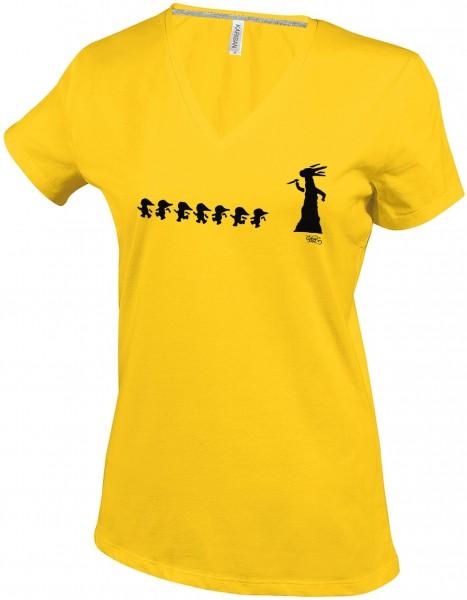 Damen T-Shirt V-neck